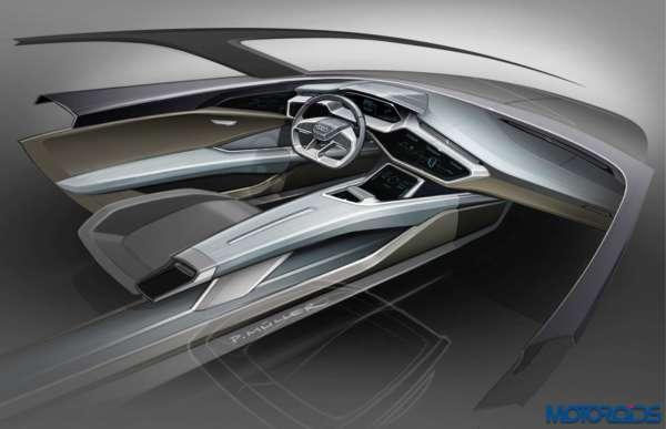 Audi e tron quattro concept – Cockpit Sketch