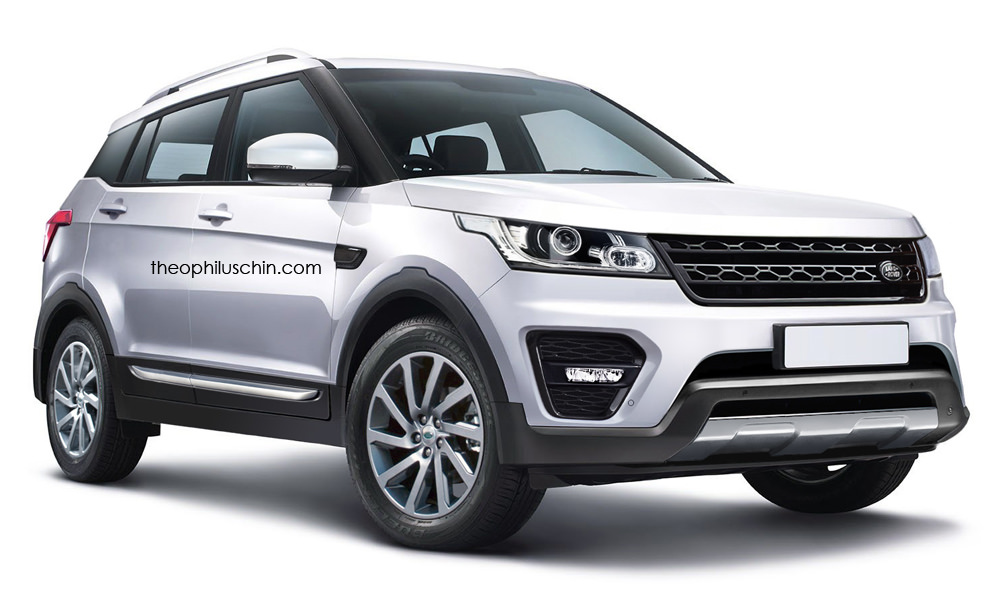 Render: Sub-Evoque Range Rover imagined; based on Hyundai ...