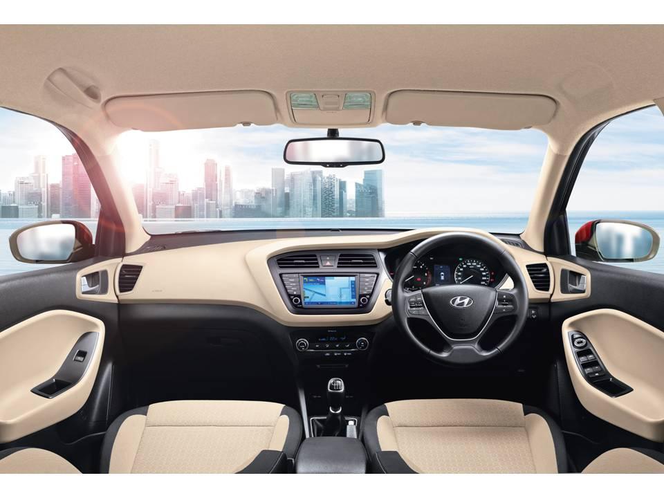Hyundai Elite i20 interiors AVN