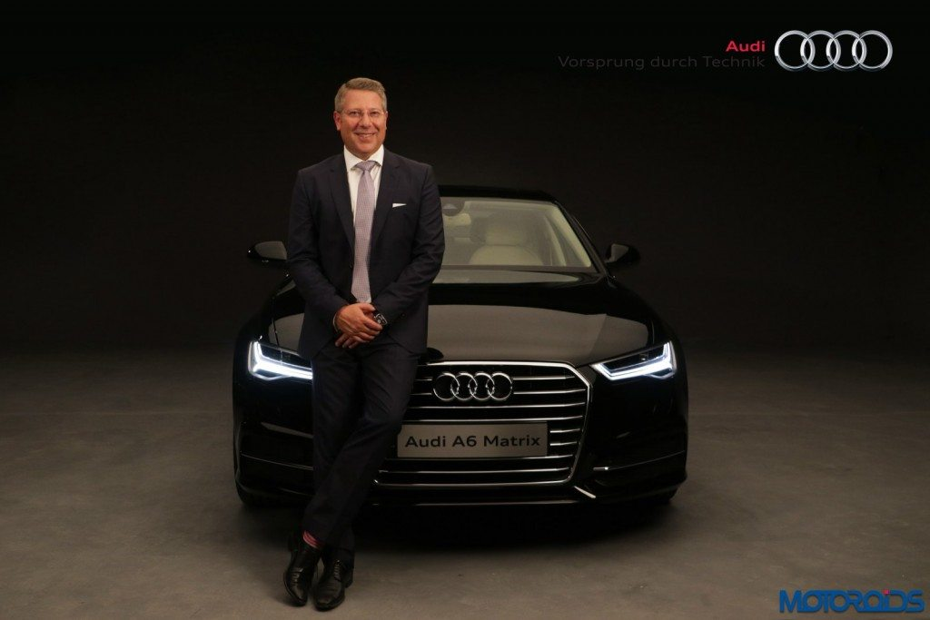 Mr. Joe King, Head, Audi India with the new Audi A6 Matrix