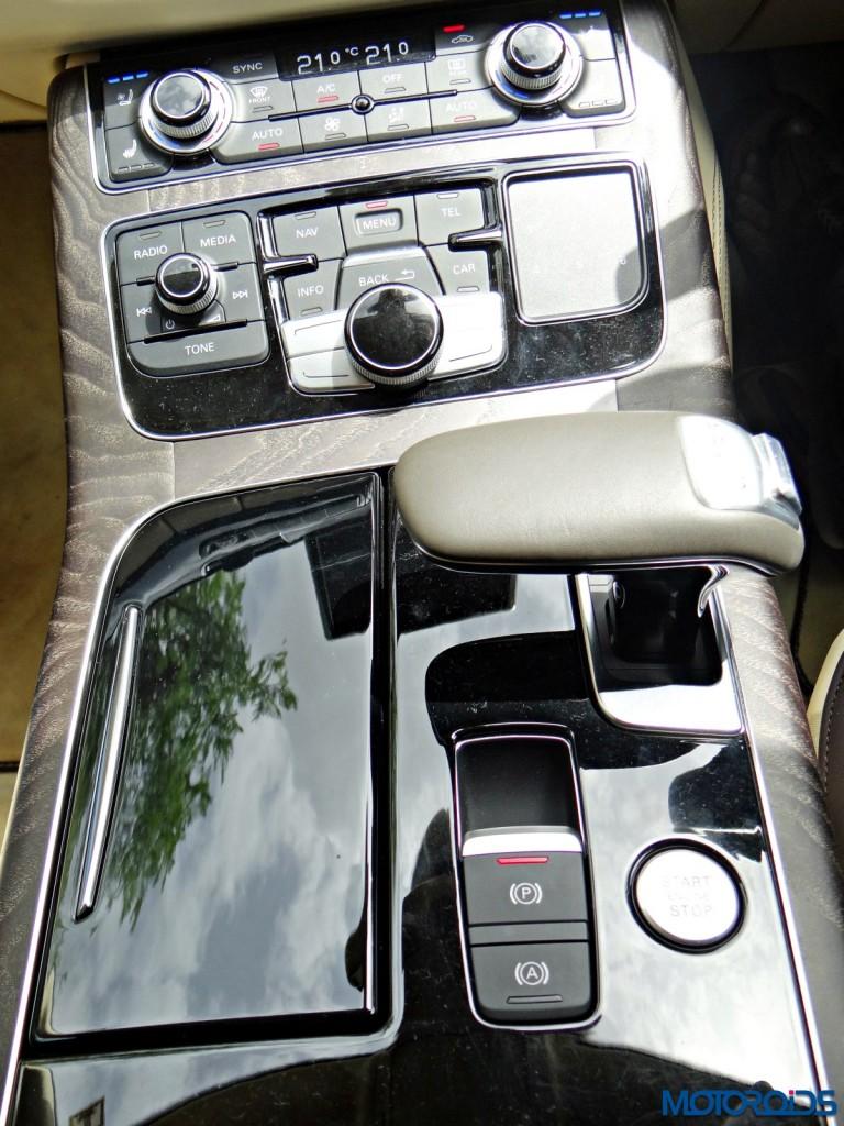 New 2015 Audi A8 L center console