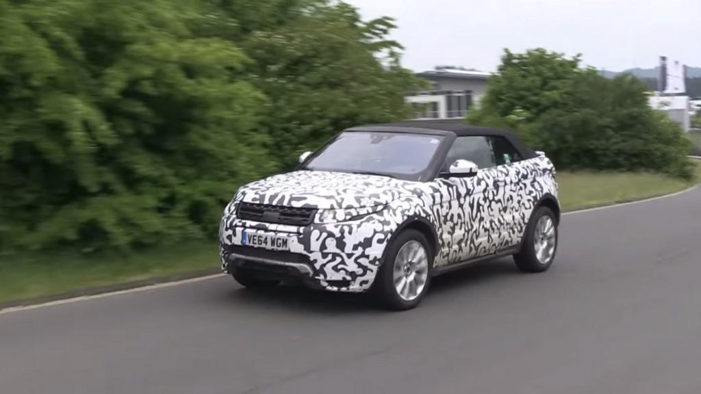 Range Rover Evoque Cabriolet Spied at Nurburgring - 1