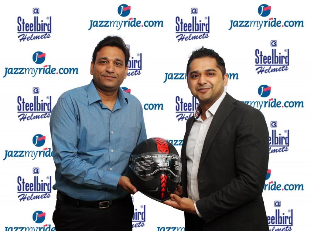 Steelbird Helmets partners Jazzmyride
