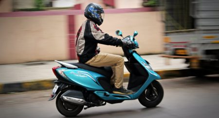 TVS Scooty Zest 110 action (1)