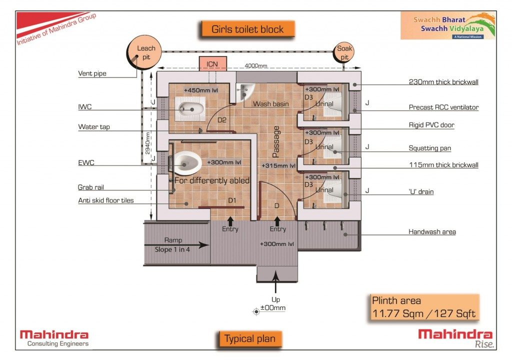 Toilet-detailed layout