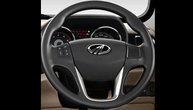 mahindra-tuv300-steering-wheel and instrument cluster