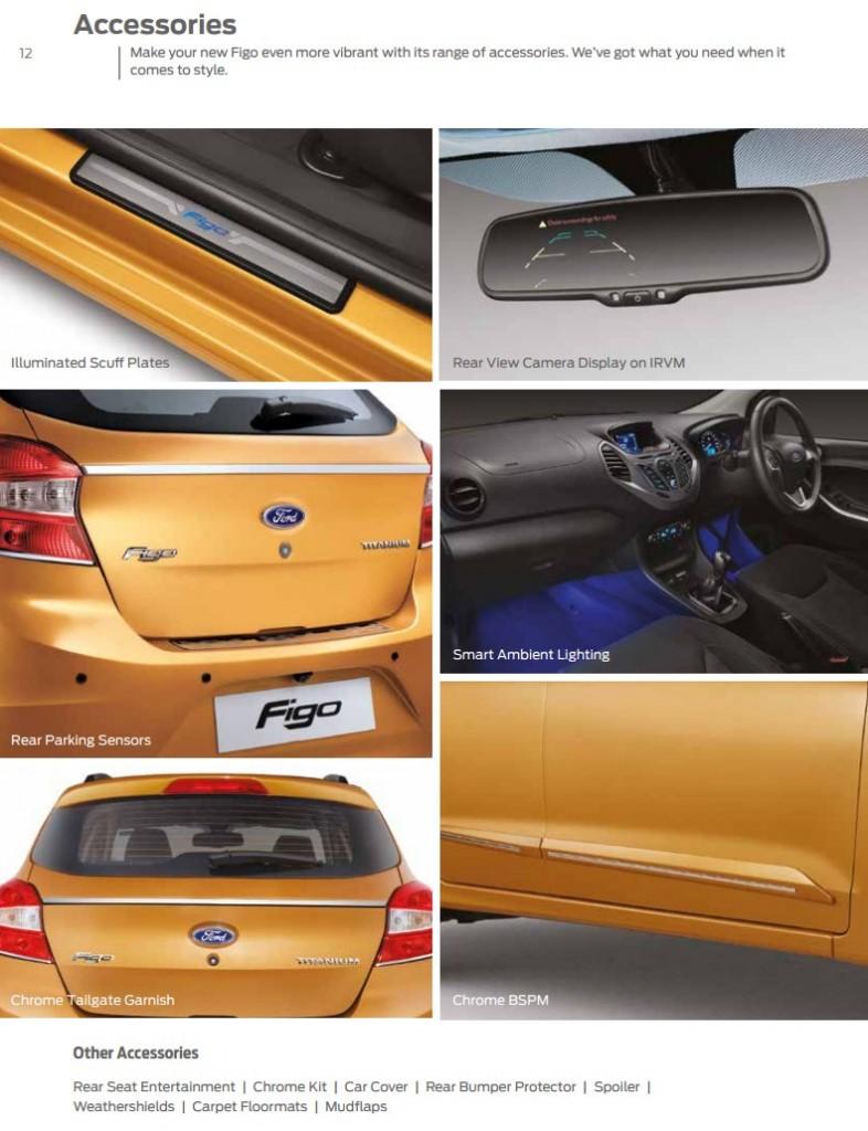 Accessories list new Ford Figo