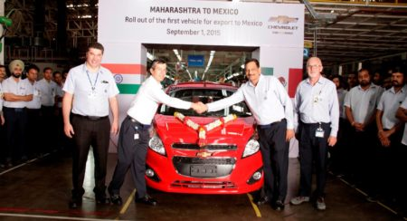GM India rolls out first vehicle for Mexico