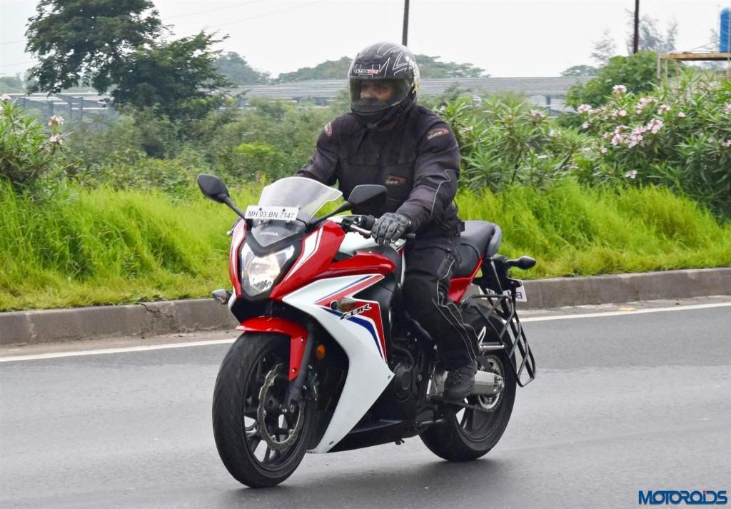 Honda CBR650F riding comfort