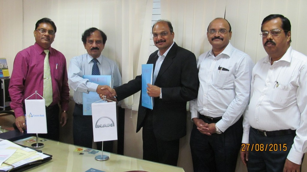 MAN Trucks Signs MoU with Canara Bank (2)