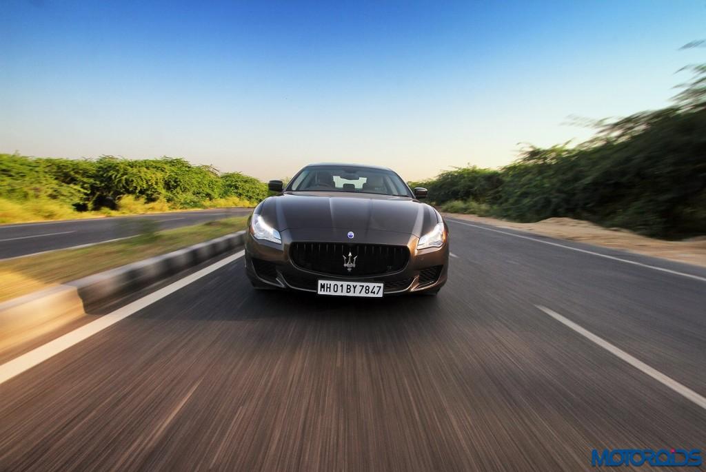 Maserati Quattroporte GTS India action (1)