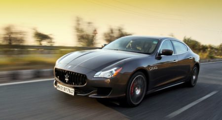Maserati Quattroporte GTS India action (4)