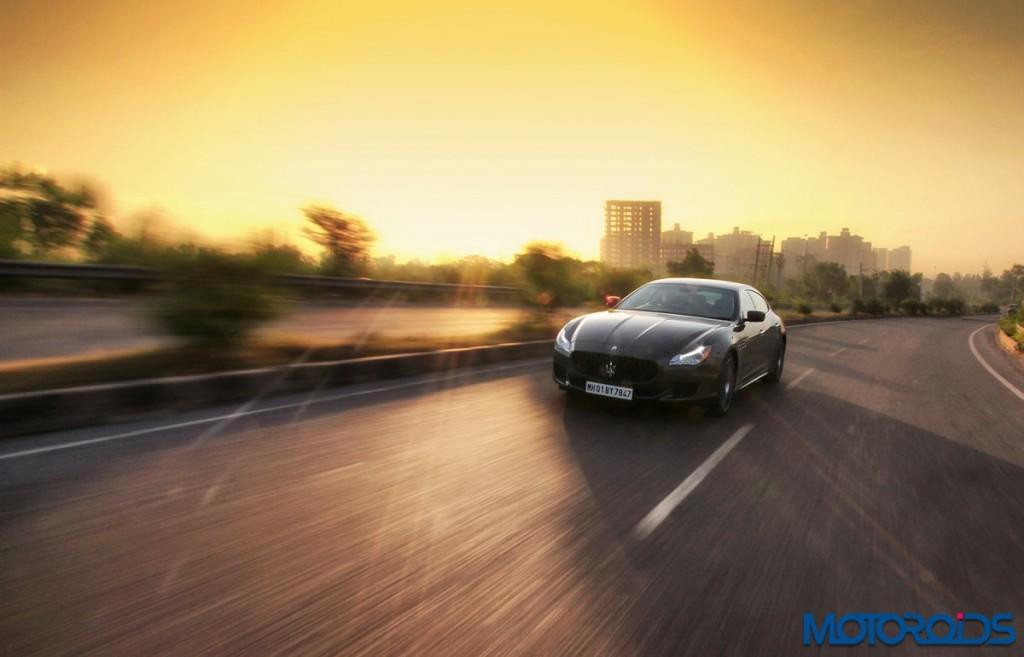 Maserati Quattroporte GTS India action (5)