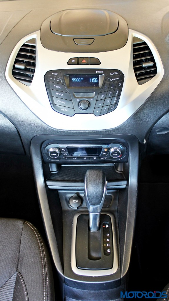 new 2015 Ford Figo automatic gearshifter