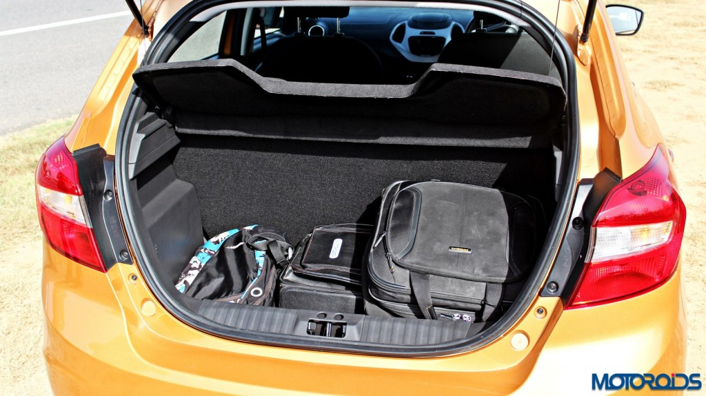 new 2015 Ford Figo boot with luggage