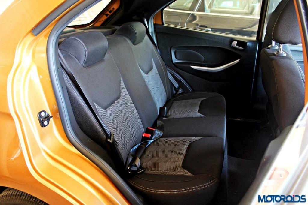 new 2015 Ford Figo rear seats
