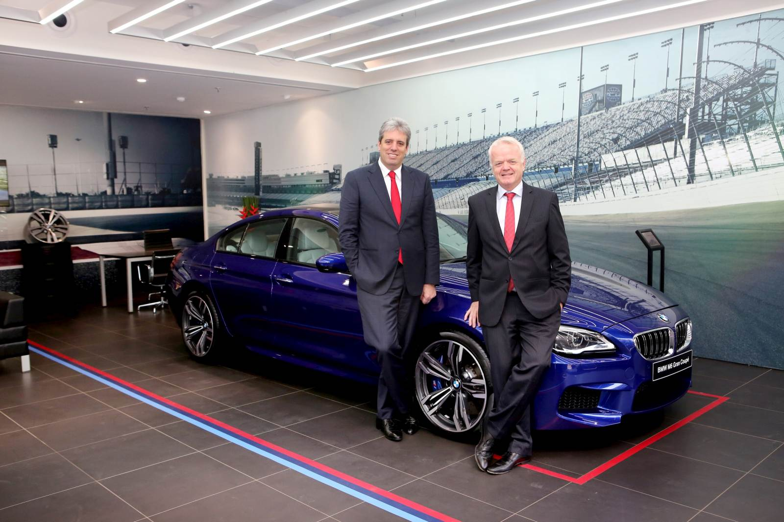 01 (L-R) Dr. Schlipf and Mr. von Sahr at BMW M Studio