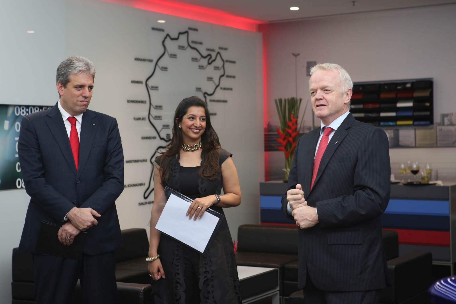 03 (L-R) Dr. Schlipf, Ms. Pooja Choudary and Mr. von Sahr at BMW M Studio