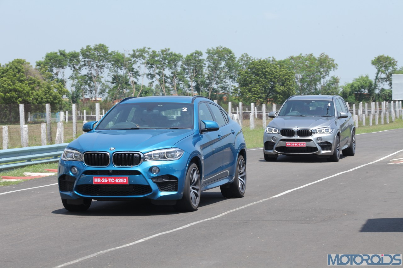 2015 bmw x5 m and bmw x6 m track review double delight motoroids. Black Bedroom Furniture Sets. Home Design Ideas
