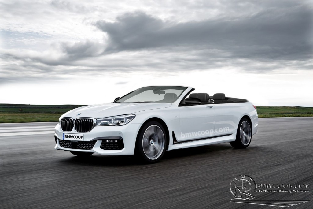 2016 BMW 7-Series Convertible Render - 1