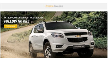 Chevrolet-Trailblazer-on Amazon India