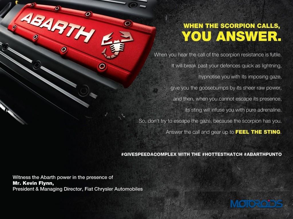 Fiat Abarth Punto Launch Invite