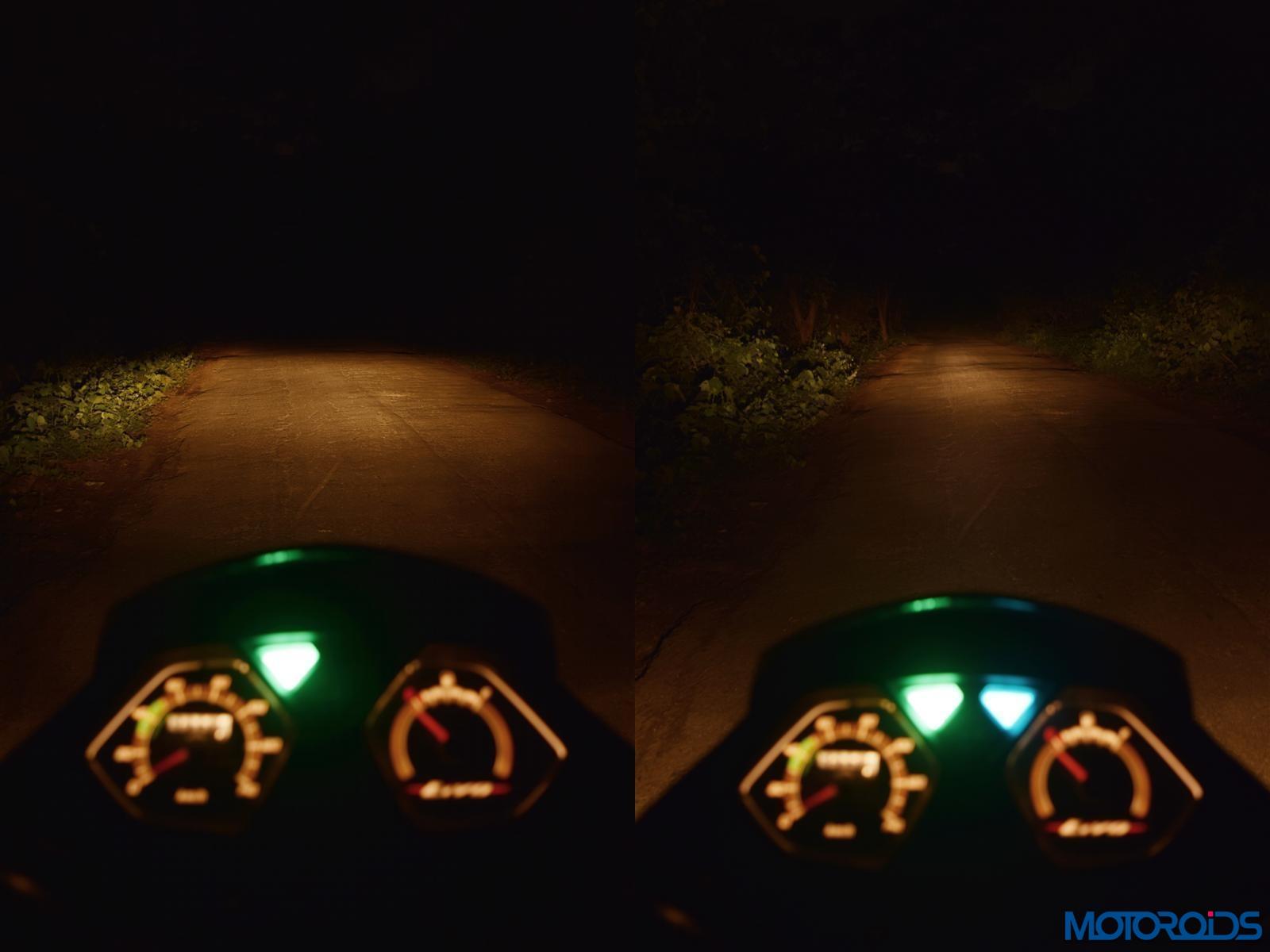 Honda Livo headlight beam