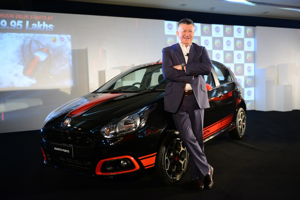 Kevin Flynn, President & MD, FCA India with Abarth Punto