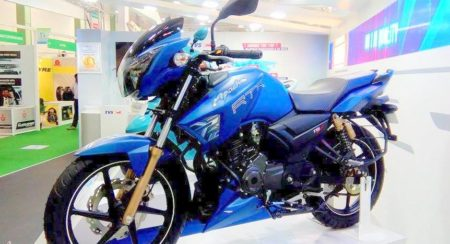 Images : TVS Apache Matte Blue Edition goes on sale
