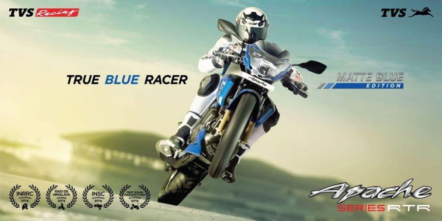 TVS Apache Matte Blue Edition