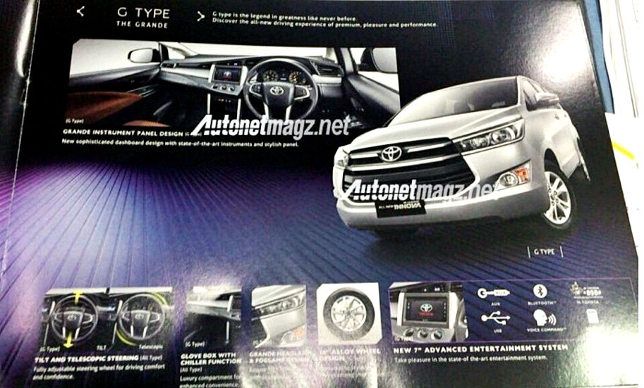 new innova g type features