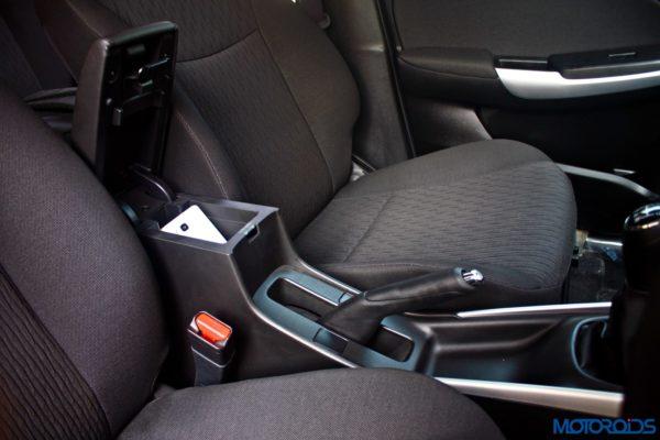 2015 Maruti Suzuki Baleno Central armrest and storage (3)