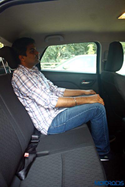 2015 Maruti Suzuki Baleno Rear Seat space