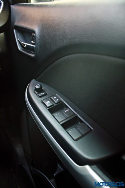 2015 Maruti Suzuki Baleno power window controls