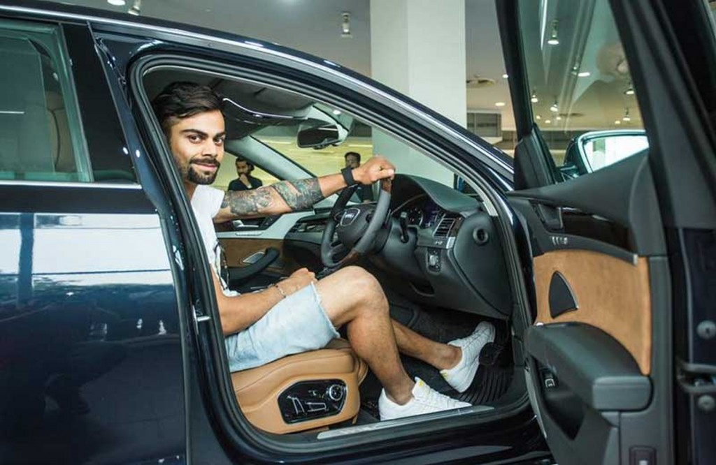 Virat's new Audi A8L W12 2