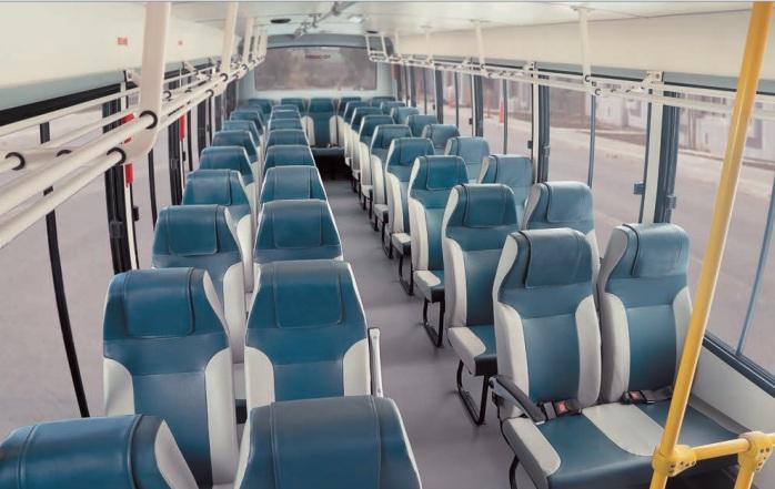 BhatarBenz Staff Bus interior