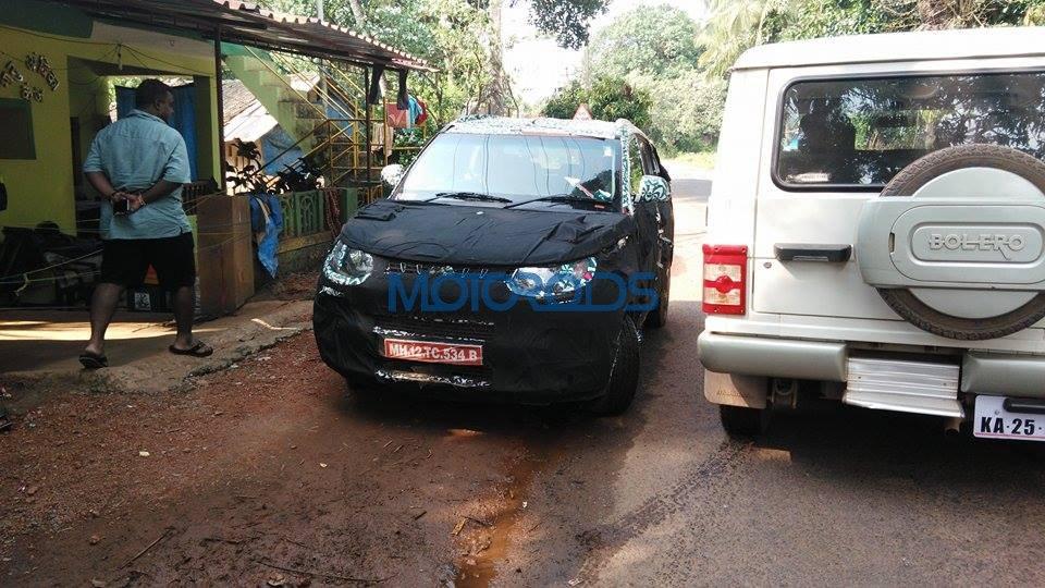 Mahindra XUV100 S101 suv spy images (2)