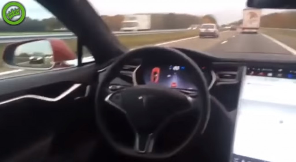 Moron in Tesla