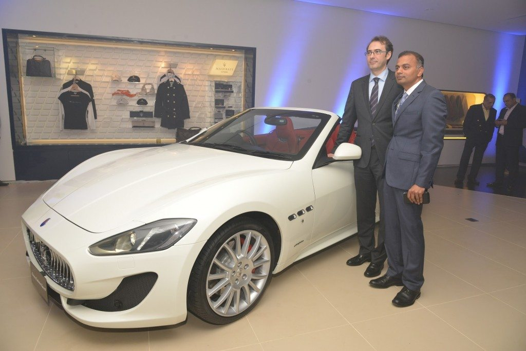 Mr Bojan Jankulovski, Head of Operations for Maserati India with Mr K. Subramanian, Director of Jubilant Autoworks Pvt. Ltd.