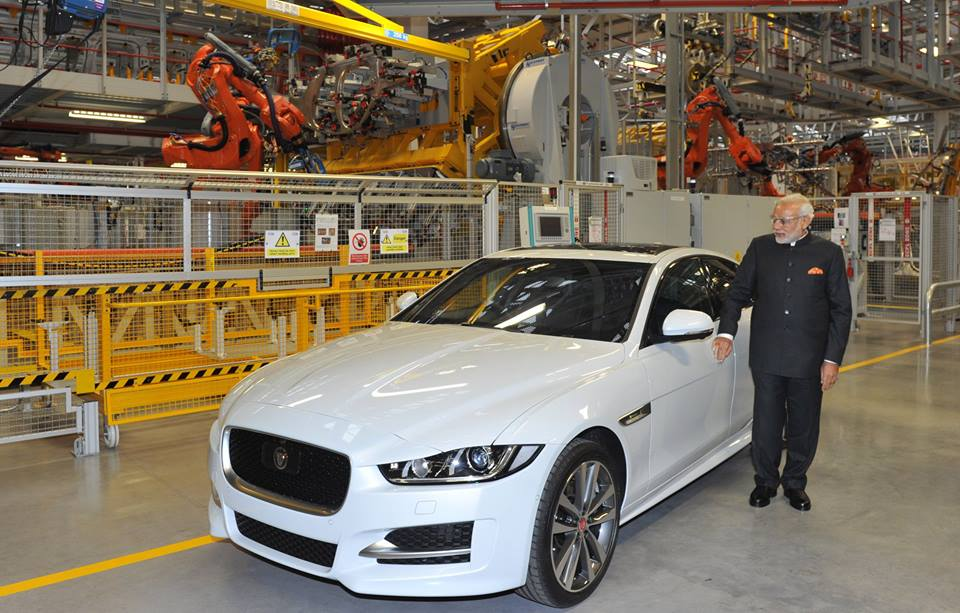Narendra Modi Visits Jaguar Land Rover Plant In Uk 1