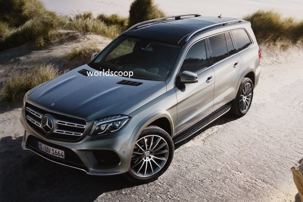 Mercedes benz gls or the new gl class leaked before la for The latest mercedes benz