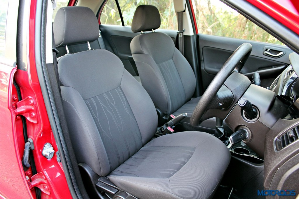 Tata Bolt front and rear seats (1)