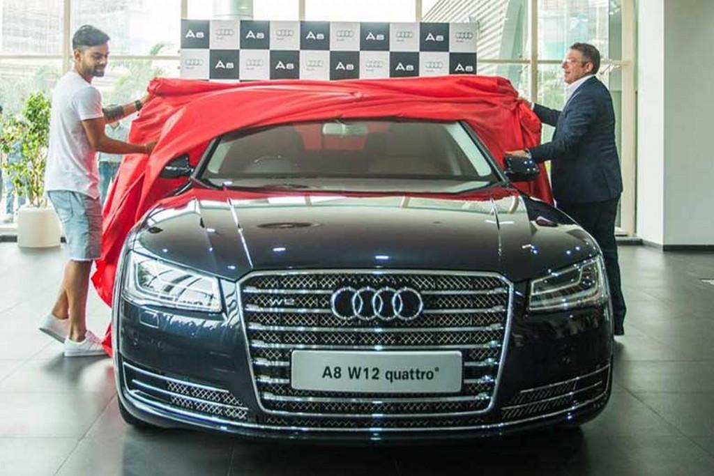 Virat's new Audi A8L W12 5