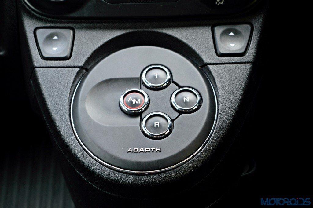 Abarth 595 Competizione AMT controls