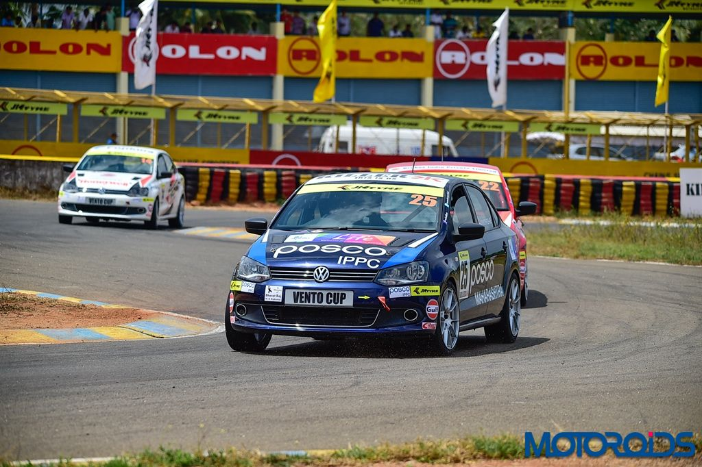 Anindith Reddy in action during one of the races