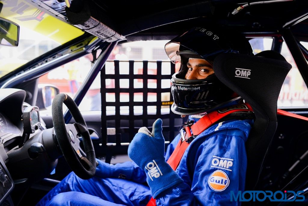 Anindith Reddy ready to drive the Vento Cup race car