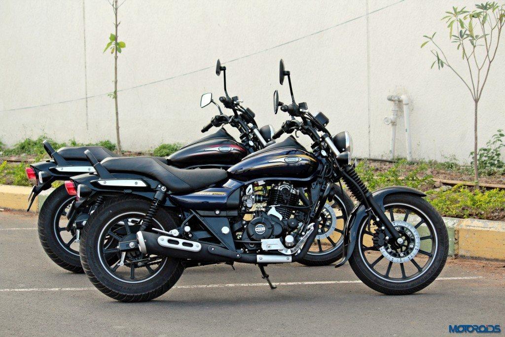 Bajaj Avenger Street 220 and 150 side profile
