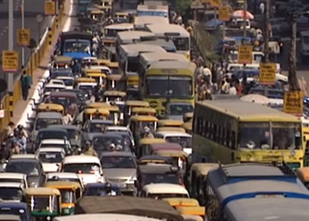 Delhi traffic jam