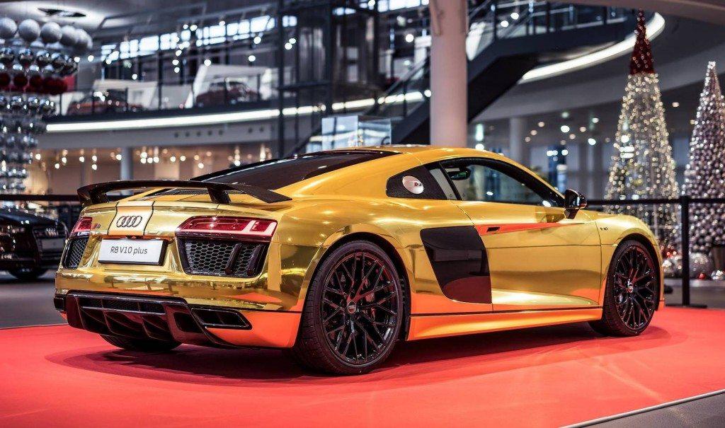 Gold Audi R8 V10 Plus (2)