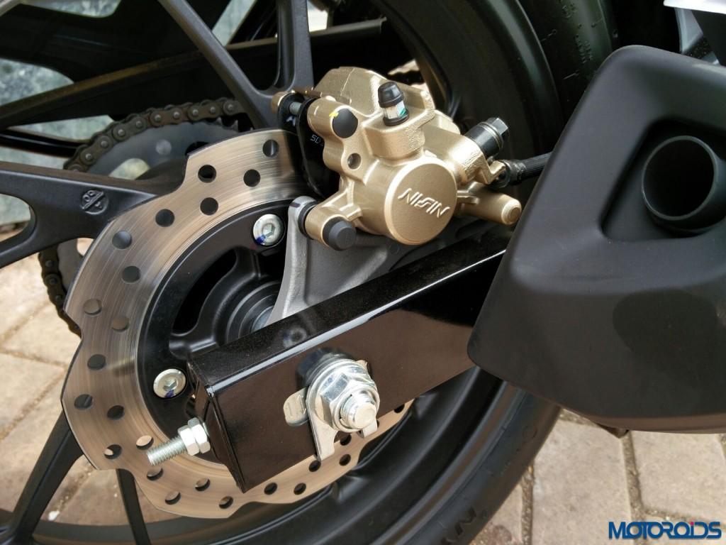 Rear petal disc brake